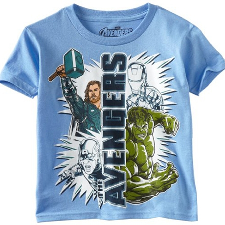Marvel Boys 2-7 Avengers Two And Two Shirt
