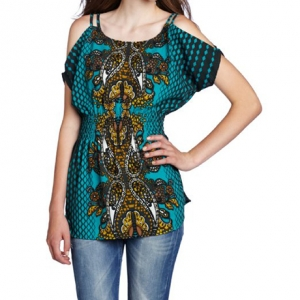 My Michelle Juniors Cold Shoulder Top