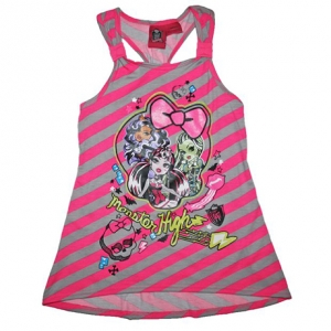 Monster High Girls Racerback Tank Top Shirt