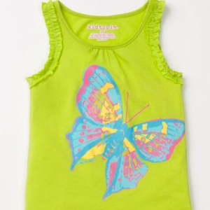 Kidtopia Toddler and Young Girls Screen Ruffle Tank