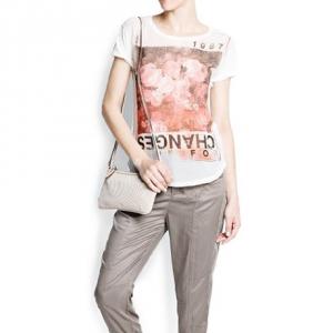 Mango Women's Typographic Print T-Shirt